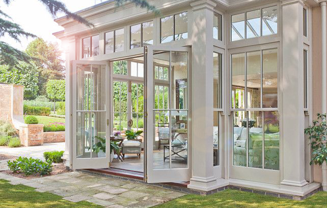 Hinged Doors for Sunrooms & Sliding vs. Hinged Doors for Sunrooms - Sunshine Sunrooms